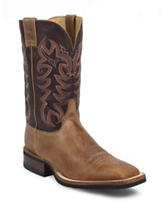 Justin America Tan Cowhide Western Boots