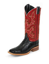 Justin Black Vintage Full Quill Ostrich Western Boots
