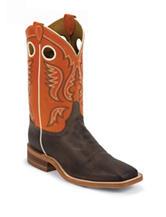 Justin Orange Bent Rail Western Boots