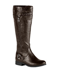 Easy Street Brown/Tooling/Gore Riding Boots