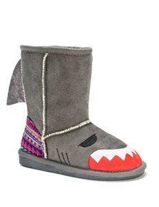 Muk Luks Finn Shark Boots – Girls 8-12