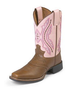 Justin Bay Westerner With Saddle Western Boots – Girls 8-13