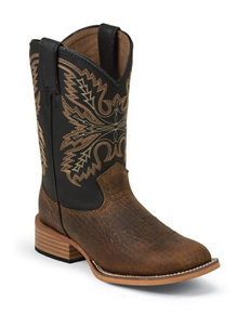 Justin Coyote Brown Western Boots – Kids