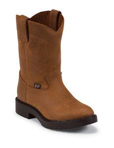 Justin Aged Bark Work Boots – Kids 8-13