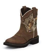 Justin Aged Bark Camo Western Boots – Kids