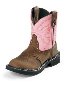 Justin Bay Apache Western Boots – Girls 1-3