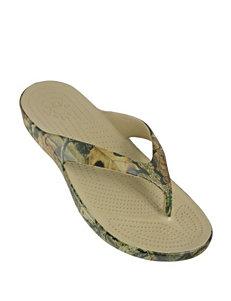 Dawgs Mossy Oak Thong Sandals