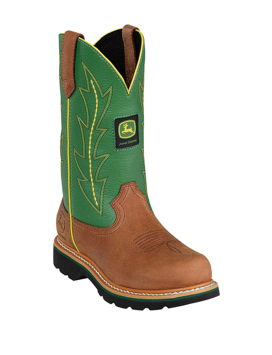John Deere Green Western & Cowboy Boots
