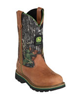 John Deere Lad Tan & Camo Western Boots