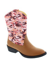 Deer Stags Ranch Western Boots – Girls 11-6
