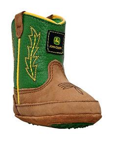 John Deere Green Johnny Popper Crib Boots – Baby 0-4
