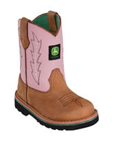 John Deere Pink Johnny Popper Boots – Toddler Girls 4-8
