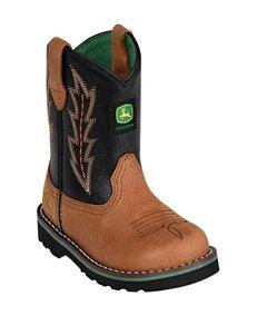 John Deere Black Johnny Popper Boots – Toddler Boys 4-8