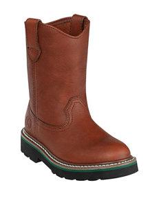 John Deere Brown Johnny Popper Boots – Toddler Boys 4-8