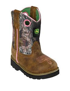 John Deere Camo Johnny Popper Boots – Toddler Girls 4-8