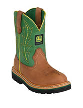 John Deere Green Johnny Popper Boots – Boys 3-6
