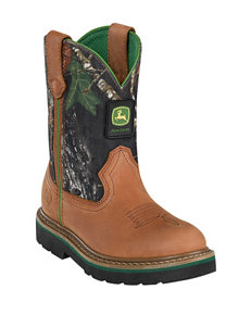 John Deere Camo Johnny Popper Boots – Boys 3-6