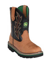 John Deere Black Johnny Popper Boots – Boys 3-6