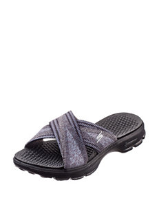 Skechers Black Slipper Sandals