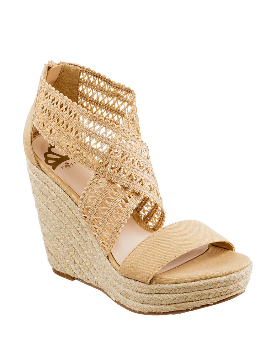 Fergalicious by Fergie Natural Wedge Sandals