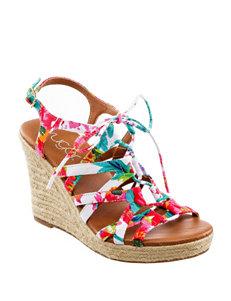 Sugar White Wedge Sandals