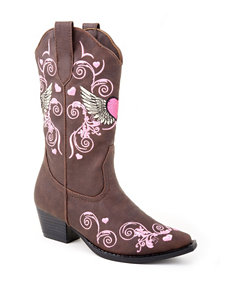 Roper Flying Heart Western Boots – Girls 9-3