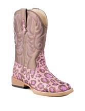 Roper Glitter Leopard Western Boots –Girls 9-3