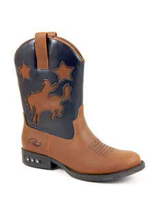 Roper Star Rider Light-Up Western Boots –Toddler Boys 5-8