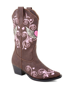 Roper Flying Heart Western Boots – Toddler Girls 5-8