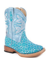 Roper Glitter Flower Western Boots – Toddler Girls 5-8