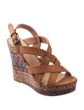Rampage Hemish Wedge Platform Sandals