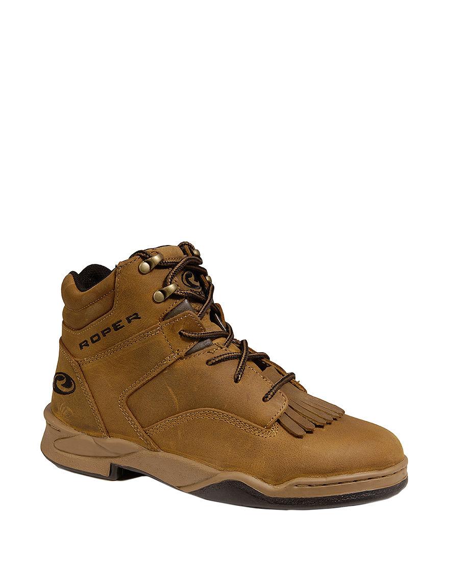 Roper Tan Hiking Boots