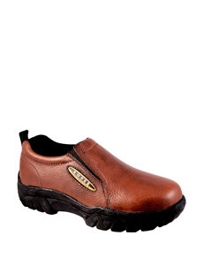Roper Performance Brown Slip-On Shoes