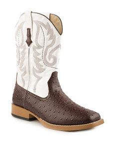 Roper Faux Ostrich Cowboy Boots