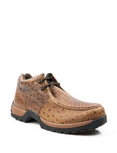 Roper Stirrup Vintage Faux Ostrich Tan Shoes