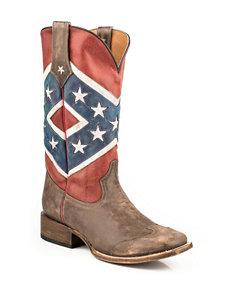 Roper Rebel Flag Cowboy Boots