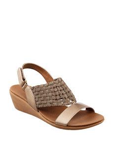 Bare Traps Bronze Wedge Sandals