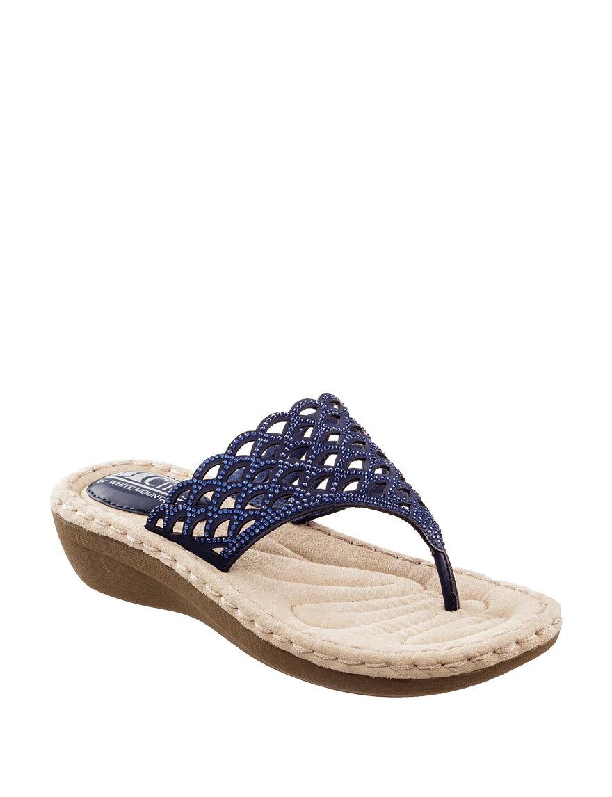 Cliffs Navy Wedge Sandals