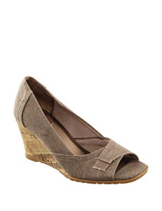 Life Stride Brown Wedge Sandals