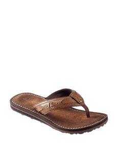 Clarks Honey Flip Flops