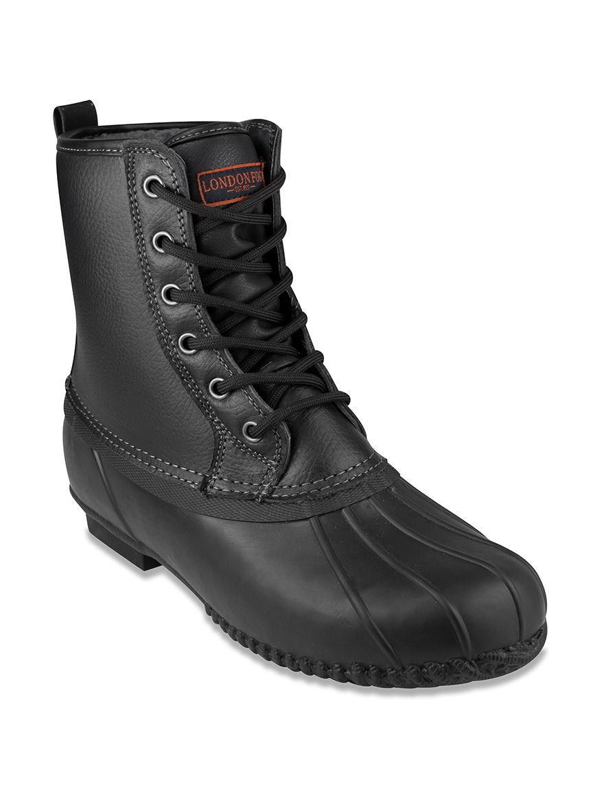 London Fog Black Winter Boots