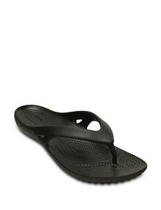 Crocs Black Flat Sandals