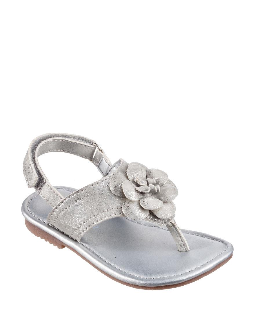 Carter's Silver Flip Flops