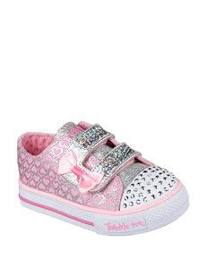 Skechers Twinkle Toes Shuffles Glitter Pop Shoes – Toddler Girls 5-10