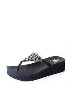 Yellow Box  Flip Flops Wedge Sandals