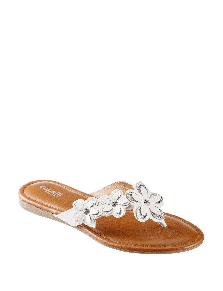 Capelli Silver Flat Sandals