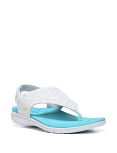 Ryka White/Blue Sport Sandals
