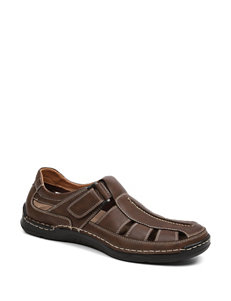 Izod Brown Fisherman Sandals