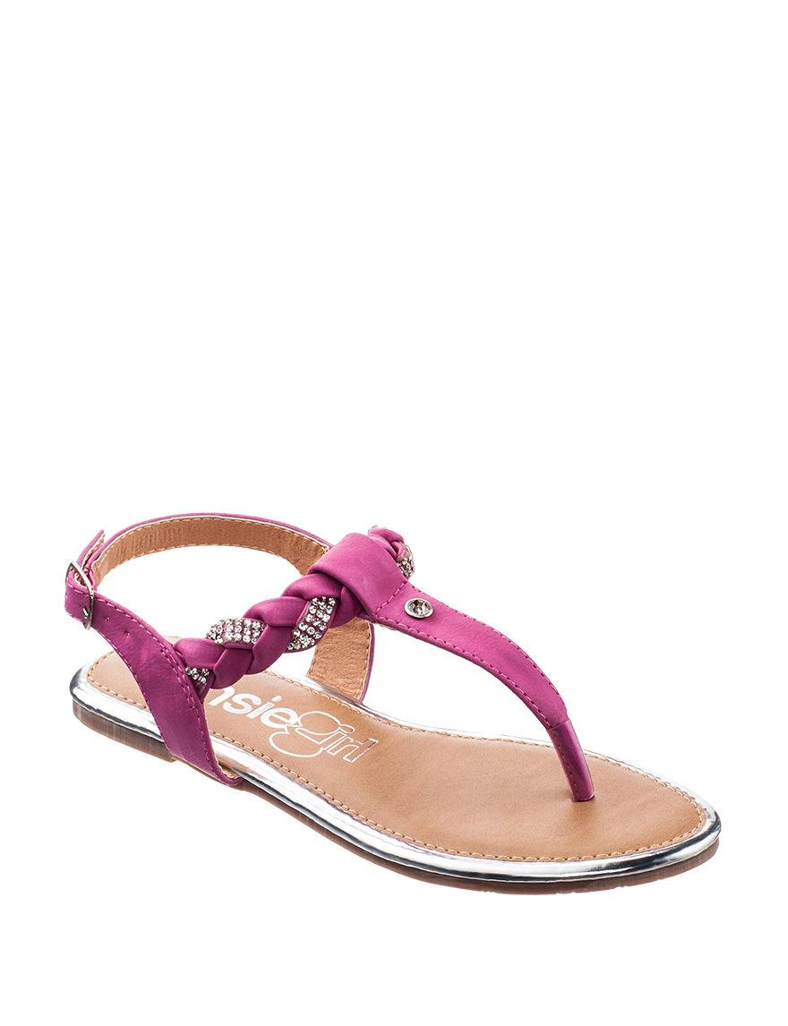 Kensie Pink Flip Flops