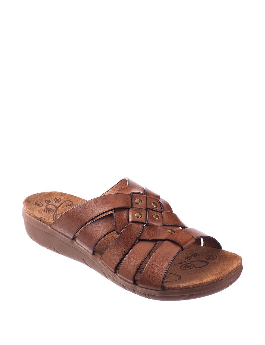 Bare Traps Brown Flip Flops
